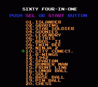 64-in-1 juegos nintendo