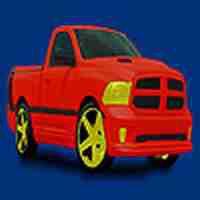 Red  village pickup coloring